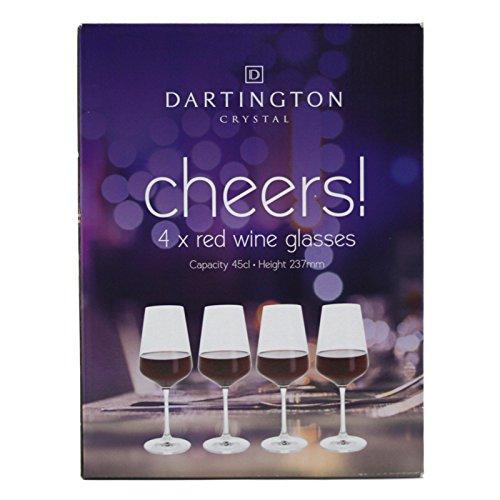 Dartington Crystal Set of 4 Red wine Glasses 158fl - Gift Boxed