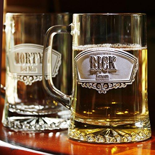 Groomsmen Gift Ideas Best Man Beer Mugs Set of 9