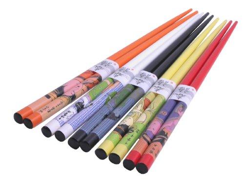 5 Pairs Japanese Geisha Chopsticks Gift Set Vd Color