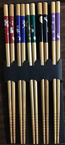 Bamboo Chopsticks Gift Set Rabbit Natural Color