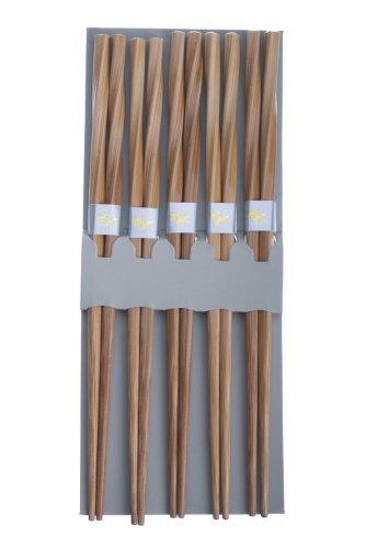 Happy Sales 5 Pairs Japanese Chopsticks Gift Sets Twist