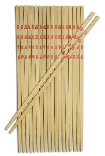 Joyce Chen 30-0043, 9-inch Bamboo Table Chopsticks, 10-pairs