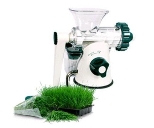 Healthy Juicer - MANUAL WHEATGRASS JUICER  WHEAT GRASS - Lexan-Green White