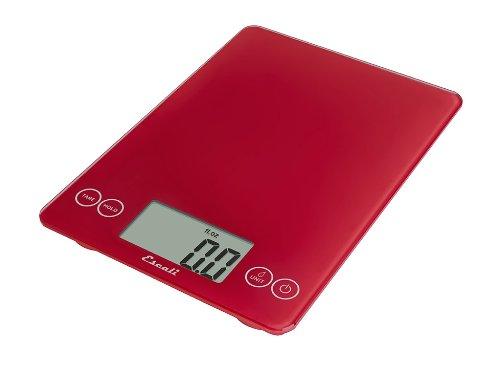 Escali 157RR Arti Glass Digital Kitchen Scale 15Lb7Kg Retro Red