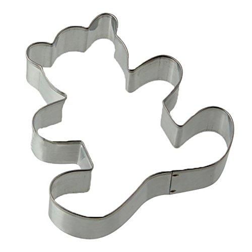 Zenker 7788 Patisserie Teddybear Cookie Cutter Silver 294 x 295 x 067