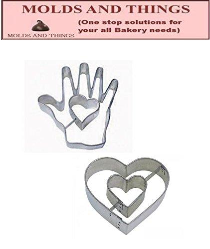 Heart in Hand Cookie Cutter Heart in Heart Cookie cutter