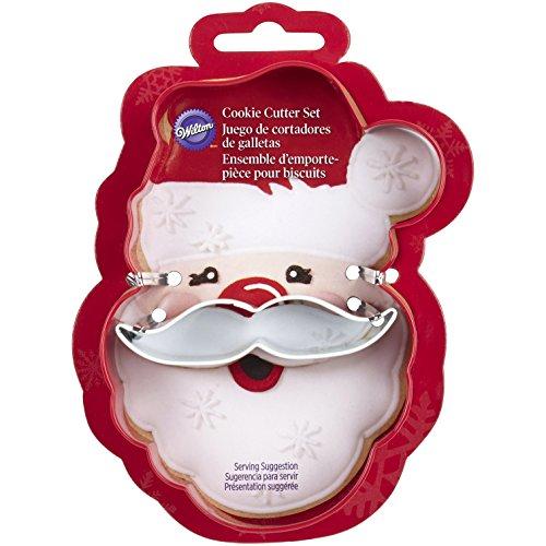 Metal Cookie Cutter Set 2Pkg Santa Face