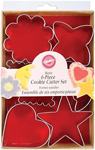 Metal Cookie Cutter Set 6Pkg-Basic Shapes
