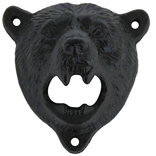 BUYBUYMALL Cast Iron Wall Mount Bottle Opener Bear Teeth Opener with Screws