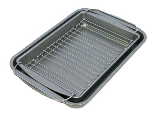 OvenStuff Nonstick Bake Broil Roast Pan 3 Piece Set 145 x 105 x 2