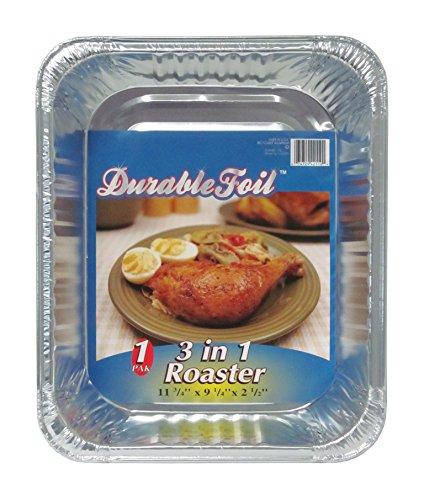 Durable Foil Rectangular Aluminum Roasting Pan Pack of 38  18  x 13  516  x 2  58