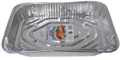 Durable Packaging Rectangular Aluminum Roasting Pan X-Large 16-58 x 11-78 x 2-12 Pack of 12