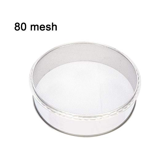 Fine Mesh Flour Sifter Kitchen Round Stainless Steel Flour Sieve for Electric Powder Vibration Sieve Machine 80 Mesh Only