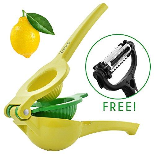 Lemon SqueezerManual Citrus Juicer–Lemon Juicer With Strong Handles- Lime Juicer -lemon juicer squeezer Comes With A Sharp Vegetable Peeler