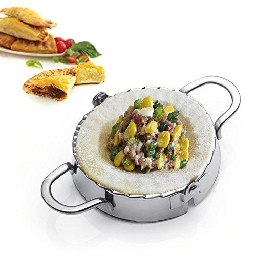 Best Utensils Stainless Steel Ravioli Mold Pierogi Dumpling Maker Wrapper Pastry Dough Cutter Kitchen Accessories M DIA 4 inch