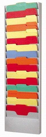 Buddy Products 16 Pocket Literature Rack Steel 2125 x 45625 x 135625 Inches Platinum 0802-32