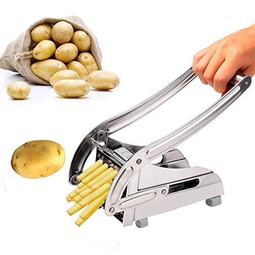 Bulges Stainless Steel French Fry Cutter Maker Vegetable Slicer Chopper Potato Chipper Silver US Stock