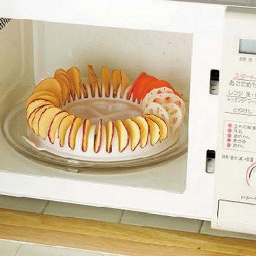 DIY Potato Chips Maker Baking Tray Low Calories Microwave Oven DIY Baked Potato Chips SlicerCooker Roaster Snack Maker Set Home Baking Tool