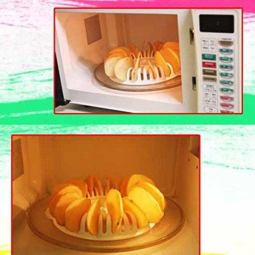 Oven Tray - Microwave Potato Chips Maker Rack Tray Kitchen Potato chips Baking Tool DIY Baking Pan Oven Potato Mud Machine Snacks Maker - by NAMZON
