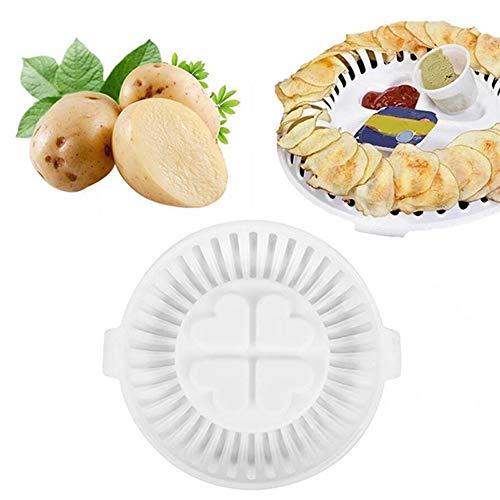 RONSHIN DIY Microwave Oven Fat Free Potato Chip Maker Kitchen Bakeware Tools Baking Rack