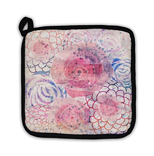 Gear New Bright Watercolor Floral Pot Holder