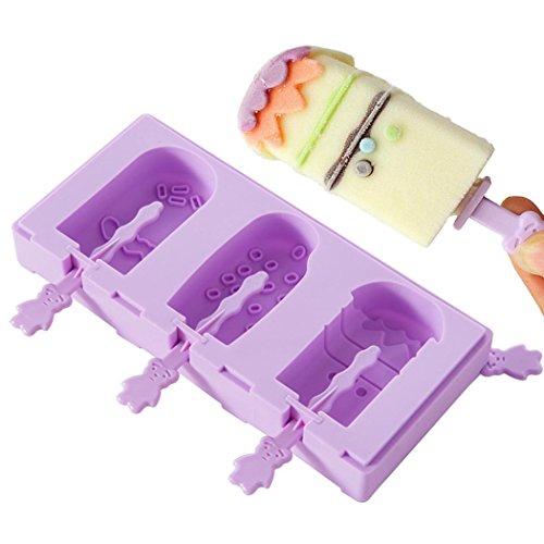BubbyBear Silicone Ice Cream MoldReusable 3 Cavity Bear Paw Silicone Baking PanIce Cube TraySoap MoldChocolate MoldCake MoldCandy MoldPudding MoldPopsicleJello Silicone mold 3 Cavity Bubble