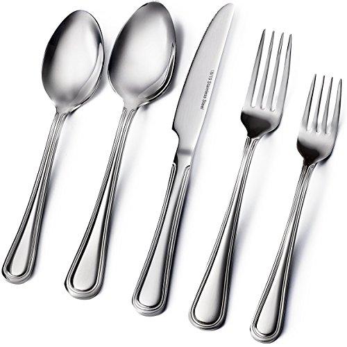 Sagler 20-Piece Flatware Set 1810 Stainless Steel silverware sets Set for 4 flatware sets