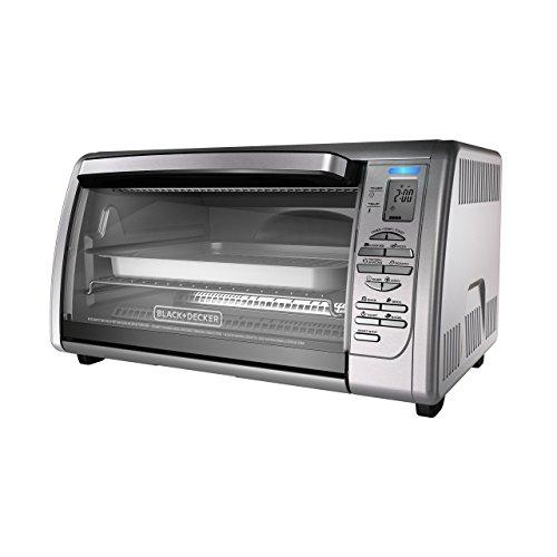 BLACKDECKER Countertop Convection Toaster Oven Silver CTO6335S Renewed