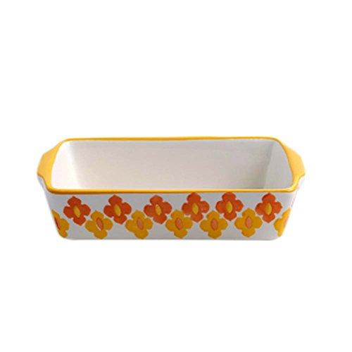 Ceramic Baking Plates Heat Resistant Binaural Bakeware Oven Special Tableware 12