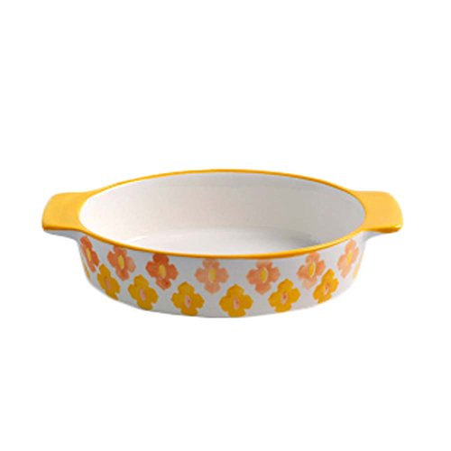 Ceramic Baking Plates Heat Resistant Binaural Bakeware Oven Special Tableware 16