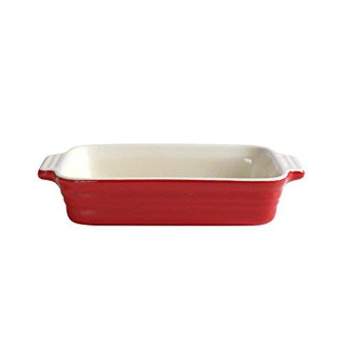 Ceramic Baking Plates Heat Resistant Binaural Bakeware Oven Special Tableware 3