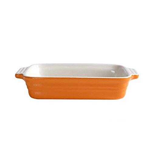 Ceramic Baking Plates Heat Resistant Binaural Bakeware Oven Special Tableware 6