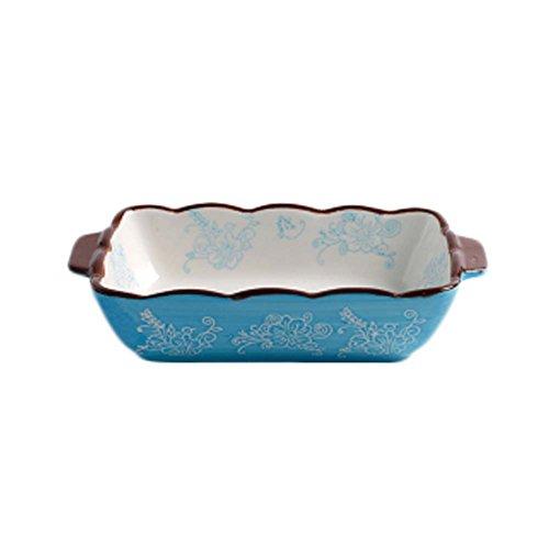 Ceramic Baking Plates Heat Resistant Binaural Bakeware Oven Special Tableware 8