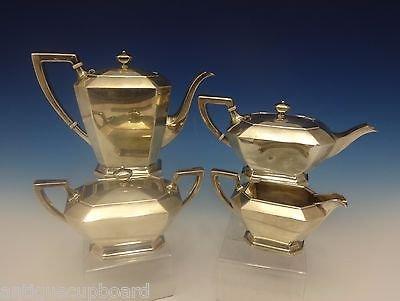 FAIRFAX BY GORHAM STERLING SILVER TEA SET 4-PC COFFEE TEA SUGAR CREAMER 0391