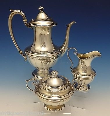 OLD COLONIAL BY TOWLE STERLING SILVER TEA SET 3-PC COFFEE SUGAR CREAMER 0500