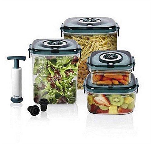 Nuwave Flavor Lockers Food Storage System Vacum Containers - 11 Pieces