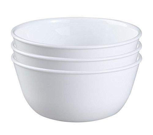 Corelle Livingware 1032595 28-Ounce Super SoupCereal Bowl Winter Frost White Set of 3