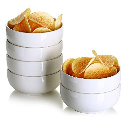 Lifver 12oz Porcelain Dessert BowlsCereal BowlSoup Bowl Set Set of 6