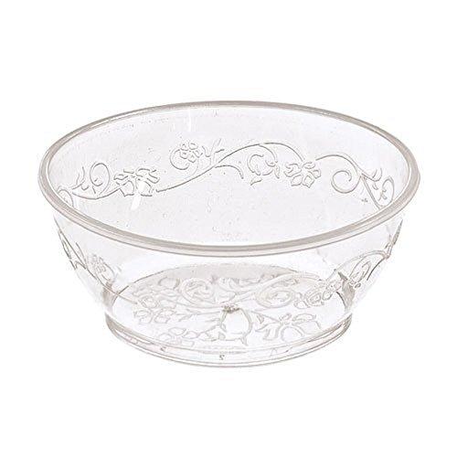 Hanna K Signature Collection 40 Count DVine Plastic Bowl 6-Ounce Clear