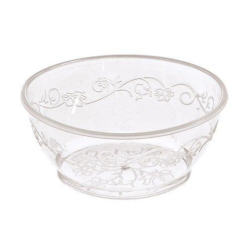 Hanna K Signature Collection 50 Count DVine Plastic Bowl 6-Ounce Clear
