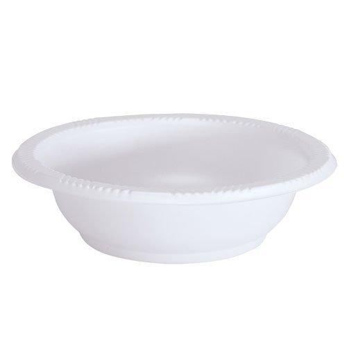 Party Dimensions 100 Count Disposable Plastic Bowls 5 oz White