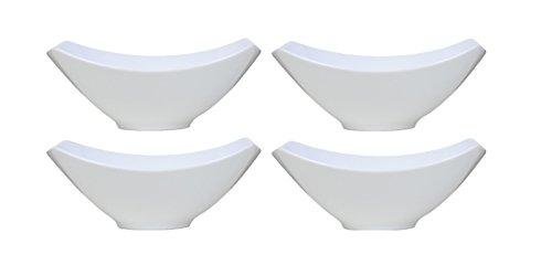 Over-and-Back 4-Piece Porcelain Serving Bowl Set 4 Bowls