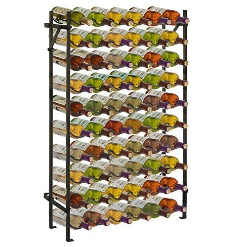 Modern Black Metal 60 Bottle Wine Cellar Organizer Rack  Wall Mounted Wine Collection Display Stand