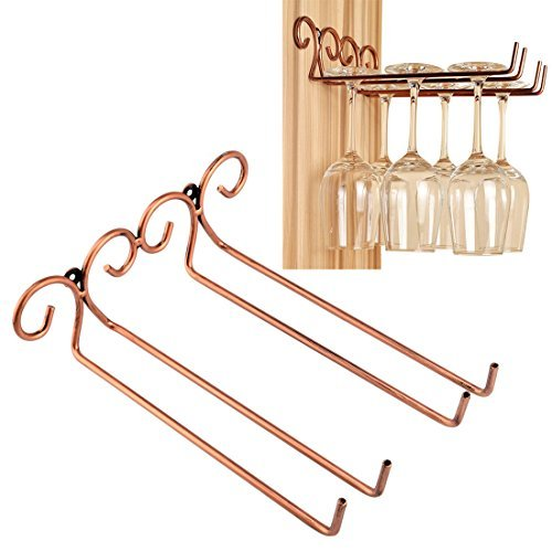 Wine Glass Rack 2 Rows Stainless Steel Wall-Mounted Wine Glass Hanger For Bar Home By Hmane