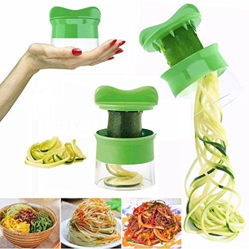 Kitchen Gadget Tool ZTY66 1PC Plastic Spiral Vegetable Fruit Slicer Cutter Grater Twister Peeler