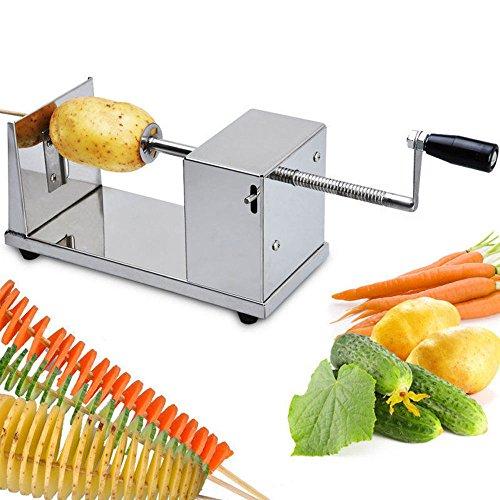 Generic QYUS41602151673 82976 Chip Vegetable Spiral Slicer Potato Manual Manual Spiral Potato Cutter Twister Twister French Fry Spiralizer er Cutter Twister