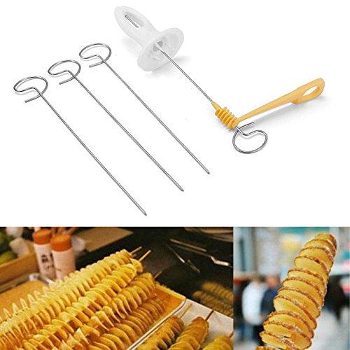 Potato Twister Tornado Slicer Manual Cutter Spiral potato Chips Spiral Potato Tower Chips Kitchen Cooking Maker AM