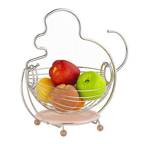 Fashion Home Basics Fruit Basket Stainless Steel Fruit Bowl Monkey