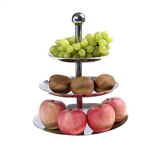 JumpTiger 3-Tier Stainless Steel Fruit Bowl