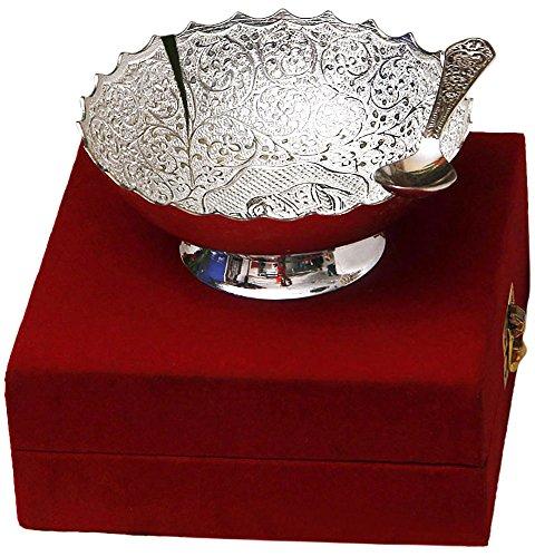 Shreeng Enterprises Stainless Steel Fruit Bowl Spoon 150 Ml Silver